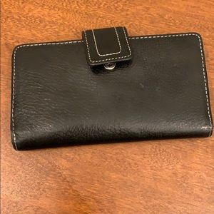 Fossil black leather wallet - used condition